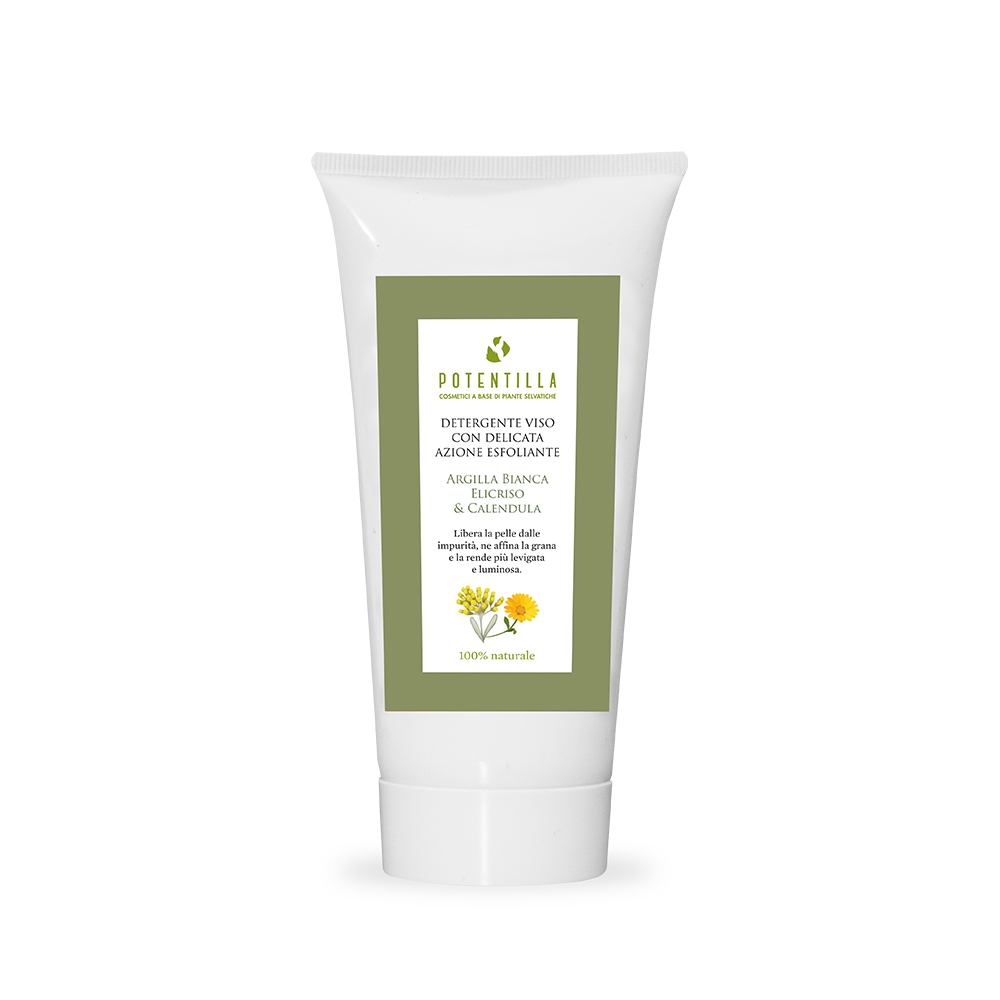 Delicate exfoliating facial cleanser